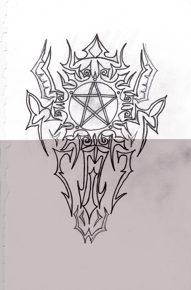 pentagram tribal tattoo 2 by beanie jess 09 on deviantart. Black Bedroom Furniture Sets. Home Design Ideas