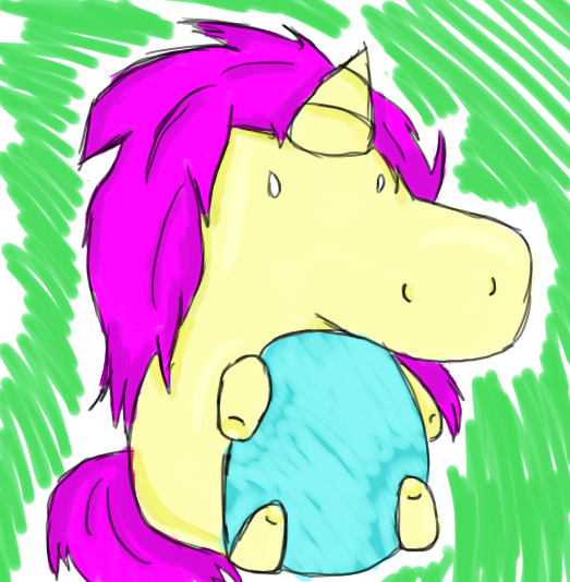 Chubby Unicorn by witchguy24
