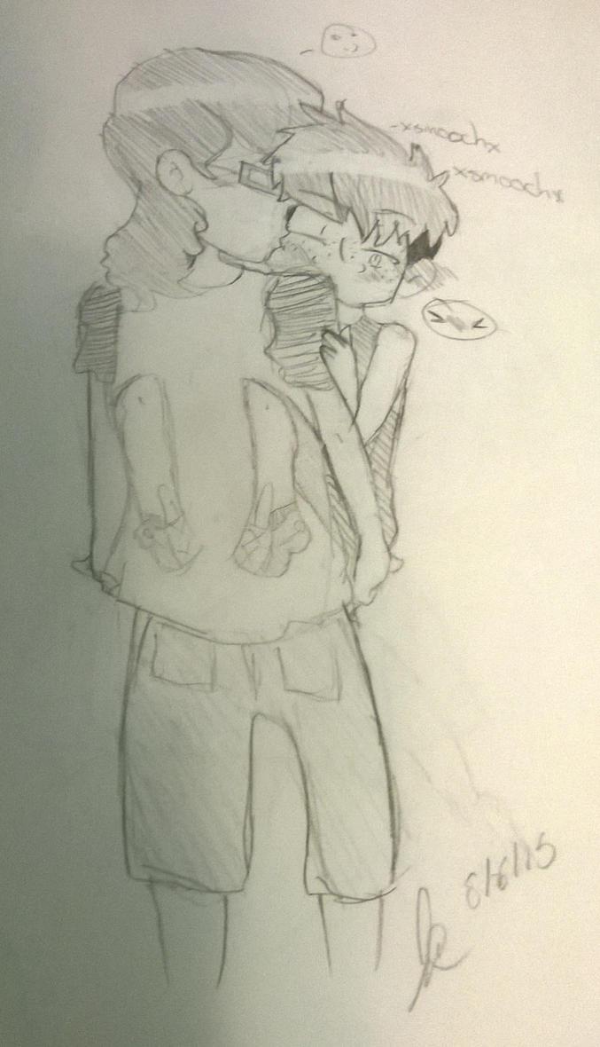 Jessy and Eddie 2  by witchguy24