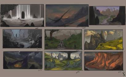 Environment Thumbnails by Shiro-mii