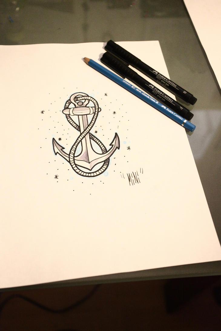 Infinity with Anchor Tattoo
