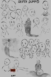 Sketch Dump No. 1 by ElizaCatt