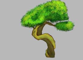 Bonsai Tree - Digital Painting Practice 2 by AverageEarthFolk
