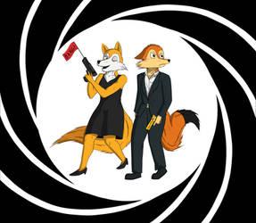 Rosie and George, Secret Service (Art Trade)