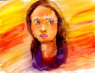 Sunset Girl by lildoombat