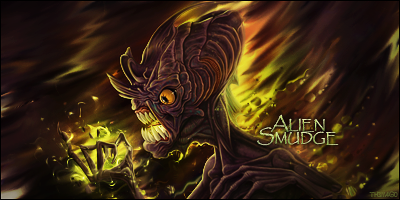 Alien Smudge by TH3M4G0