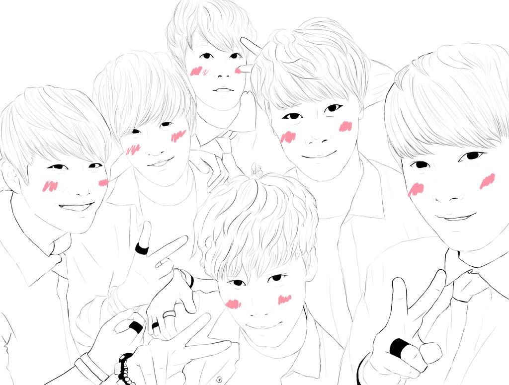 Line Art Kpop : Astro fan art by choialien on deviantart