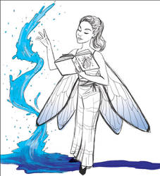 Water Affinity Fairy Sketch