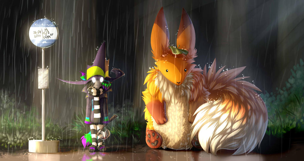 My neighbor is Giant Fox by LadonbKokosa