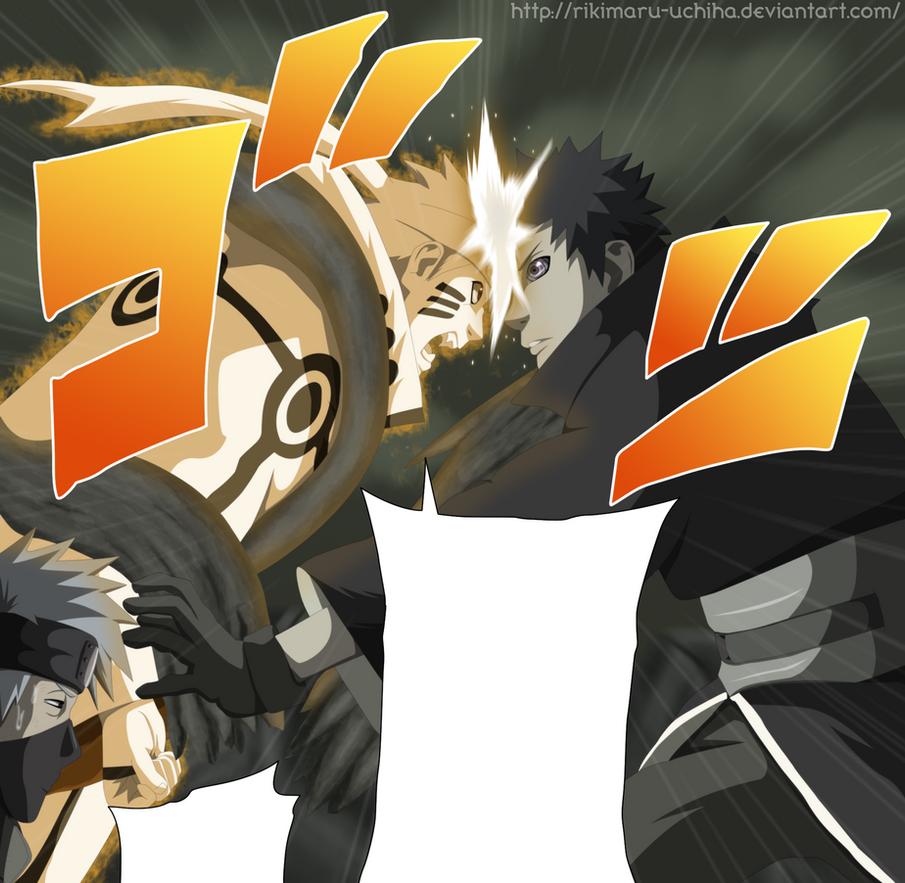 Obito VS Naruto by Rikimaru-Uchiha