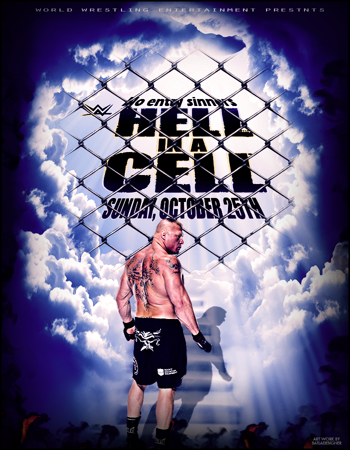 WWE Hell In A Cell 2015 Poster by SatlaDesigner