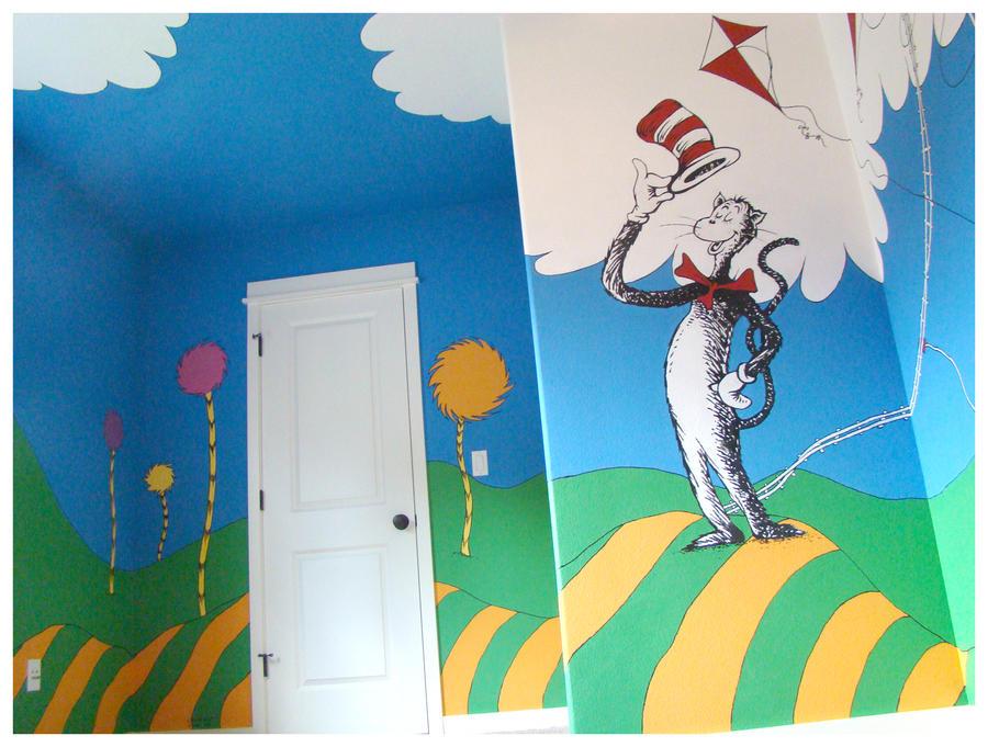 Dr seuss mural 39 seussville 39 07 by geminifire on deviantart for Dr seuss mural