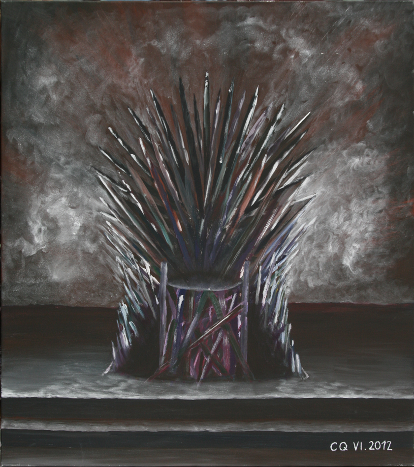 The iron throne by rharaku on deviantart for Iron throne painting