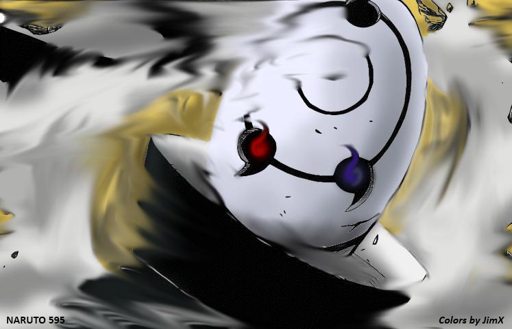 Naruto scan 595 : Tobi colorized by Drakughost by drakughost