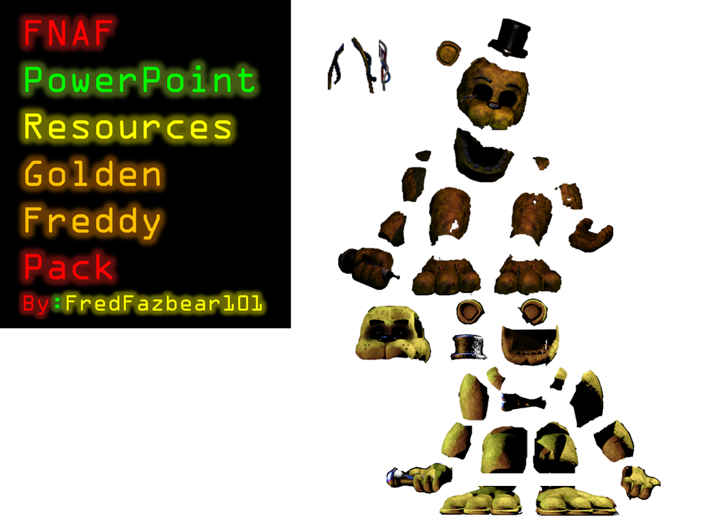 Fnaf power point resources golden freddy pack by fredfazbear101 on