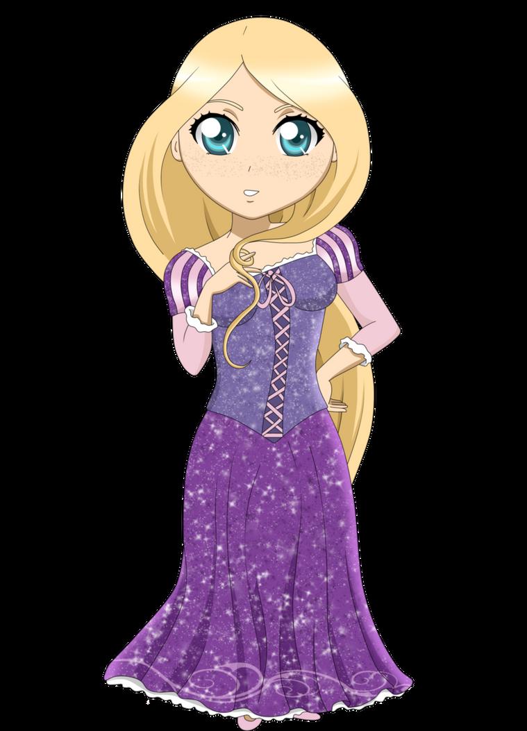 Julia as Princess ( Rapunzel) by RedxNana