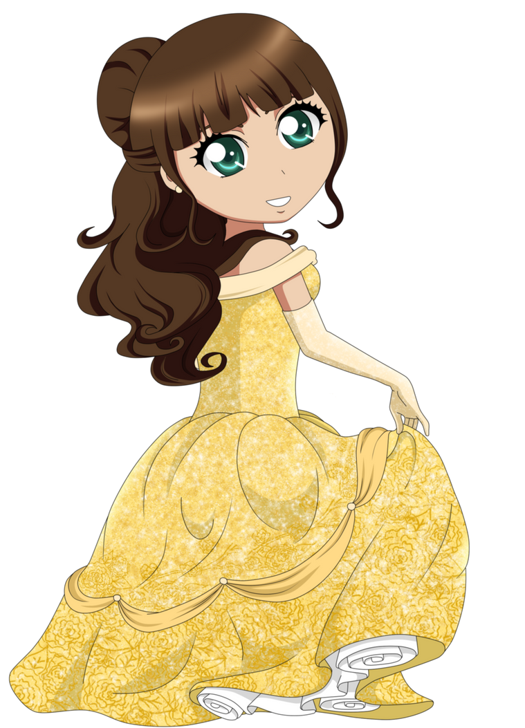 Me as diesney princess (Bell) by MissBanananana