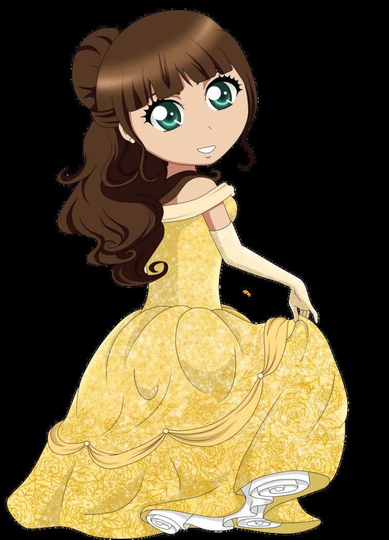 Me as diesney princess (Bell) by MissBanananana