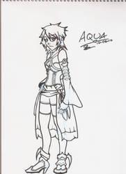 Aqua inked