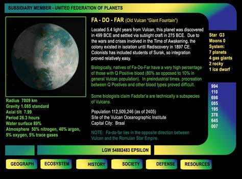 File on Vulcan colony FA-DO-FAR
