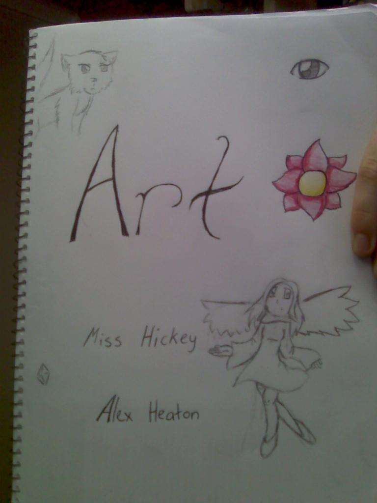 My Art Book Title Page Lol By Glendasrevenger On Deviantart