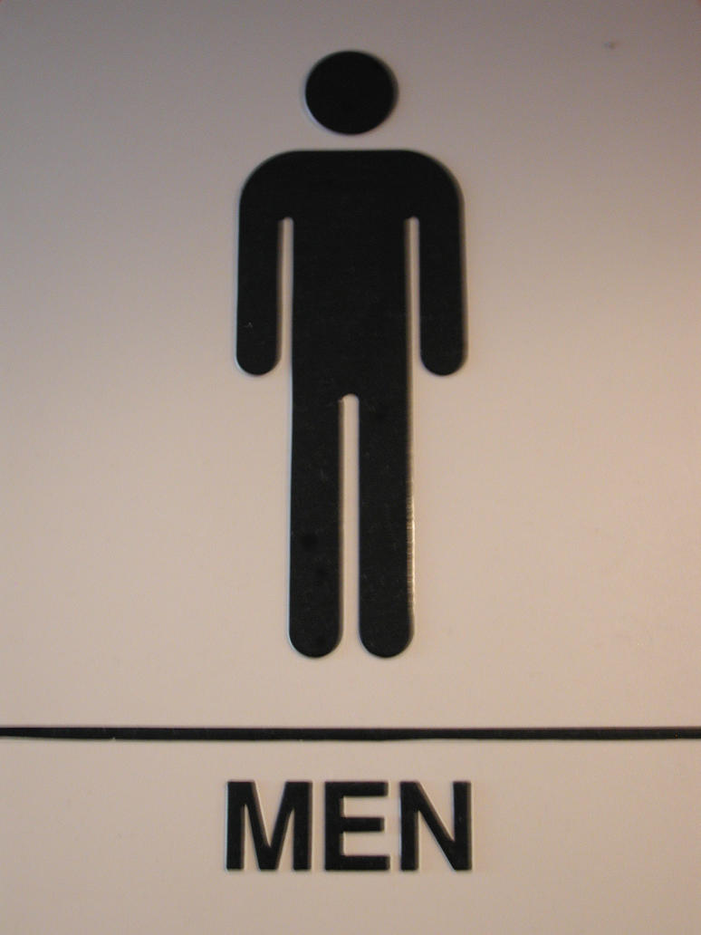 bathroom sign ..stolen by Morcalavin0