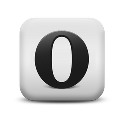 Opera matte white icon by geeneeyes