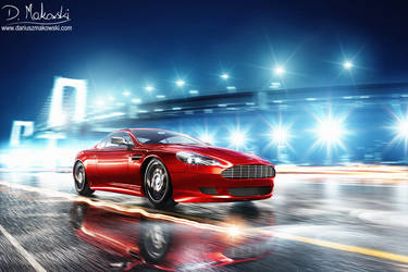 Hot Red Aston Martin by D4D4L