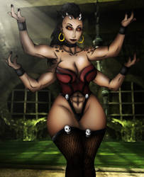 Sheeva (Mortal Kombat) by DENDEROTTO