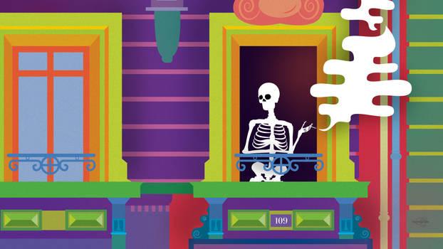 Skeleton Girl - Wallpaper