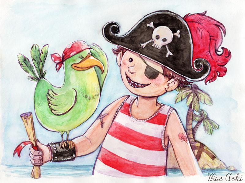 The Pirate by lauramissaoki