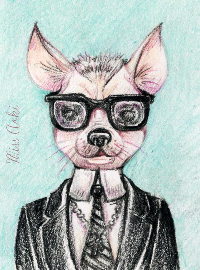 A Stylish Chihuahua by lauramissaoki