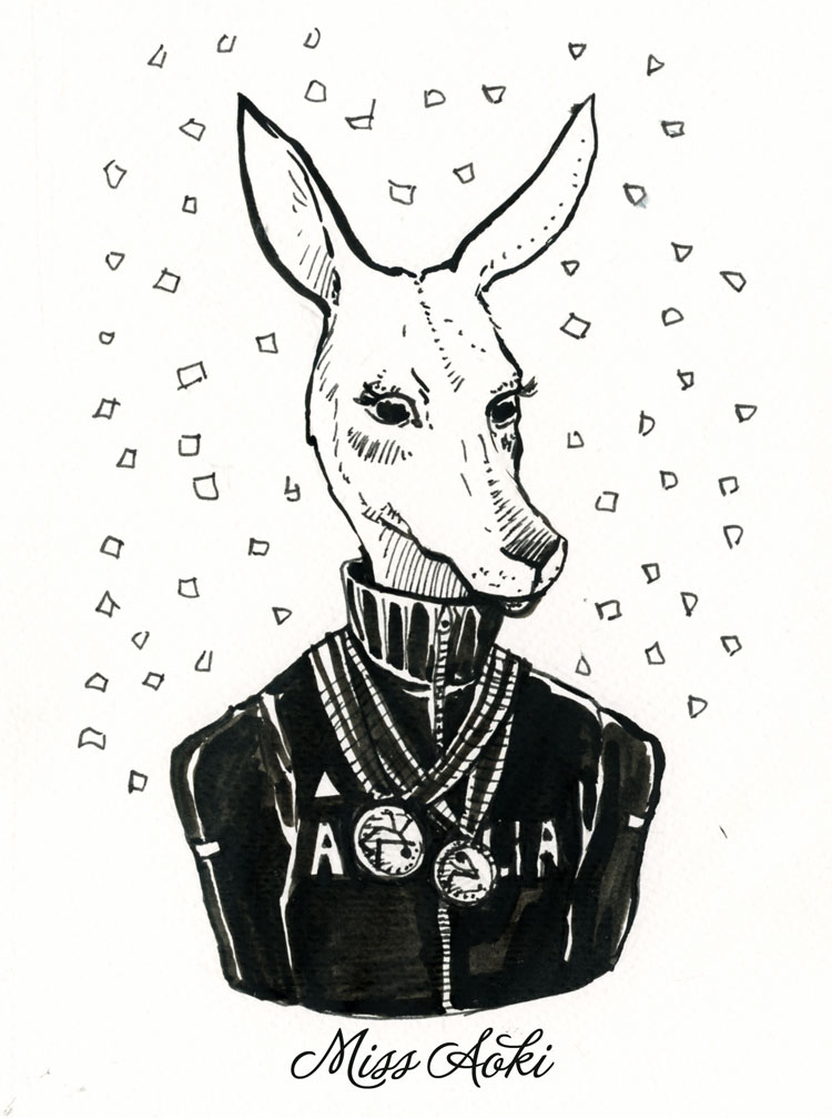 Inktober 10 Kangaroo by lauramissaoki