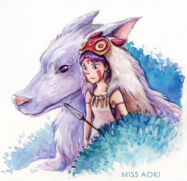 Princess Mononoke by lauramissaoki