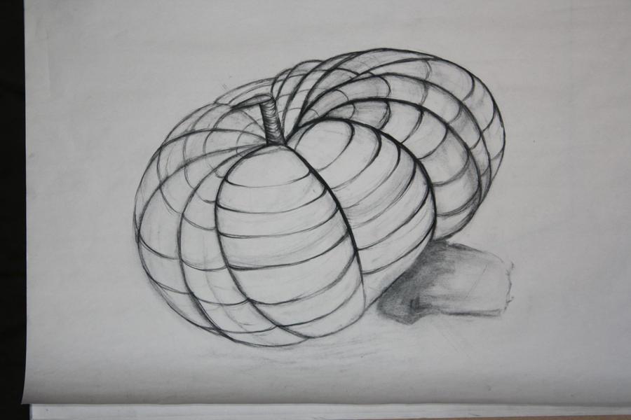 Contour Line Drawing Pumpkin : Pumpkin cross contour by magicapra on deviantart