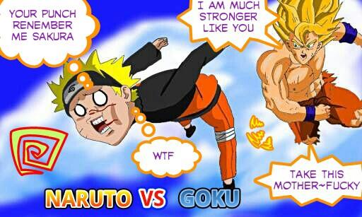 Naruto VS Goku by eduartineanimacionet