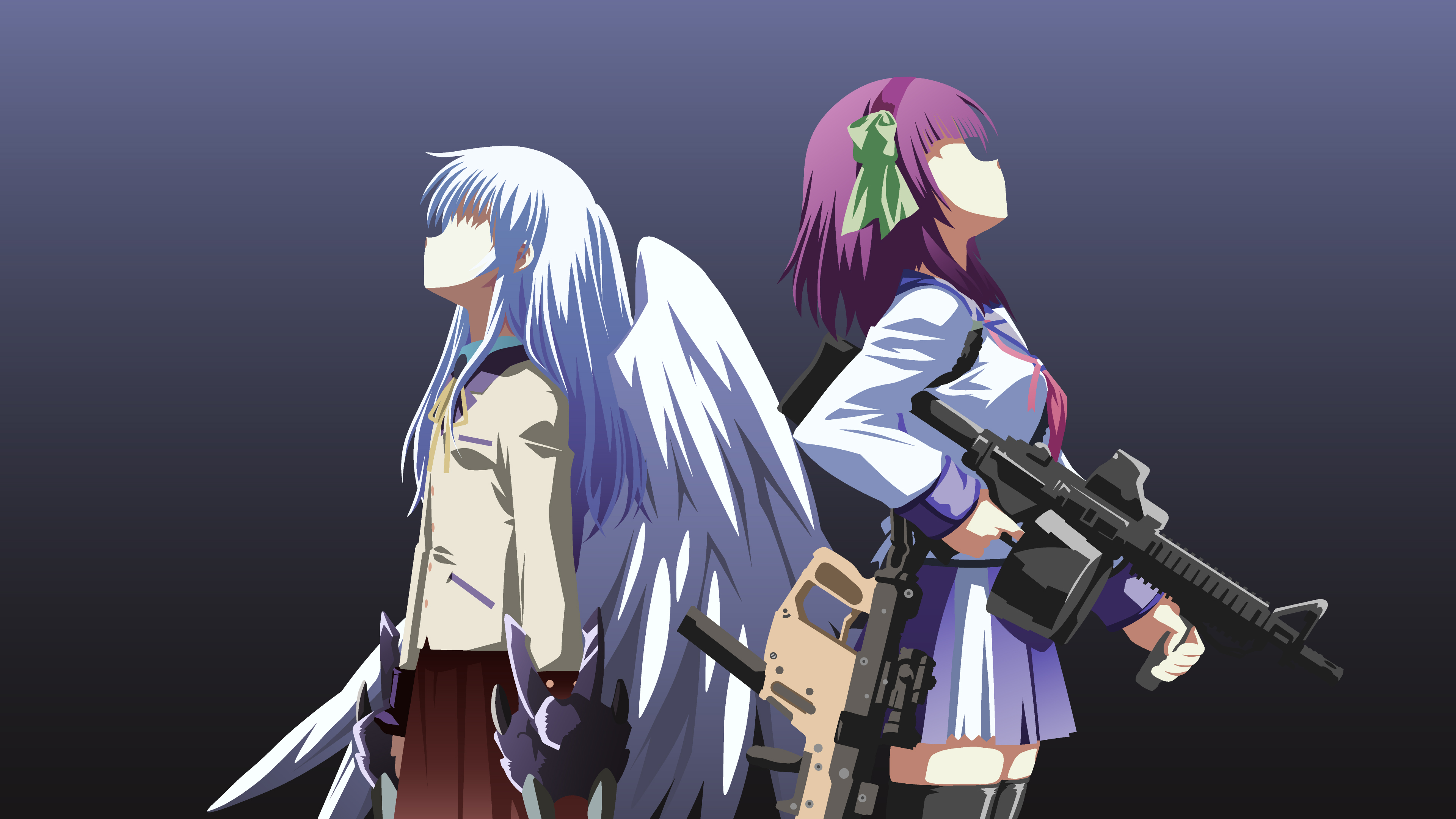 yurippe and kanade angel beats mini st by metalsynkk on yurippe and kanade angel beats mini st by metalsynkk