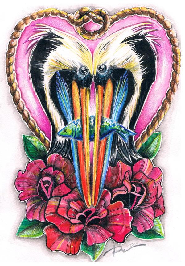 Love pelicans by Gebefreniya