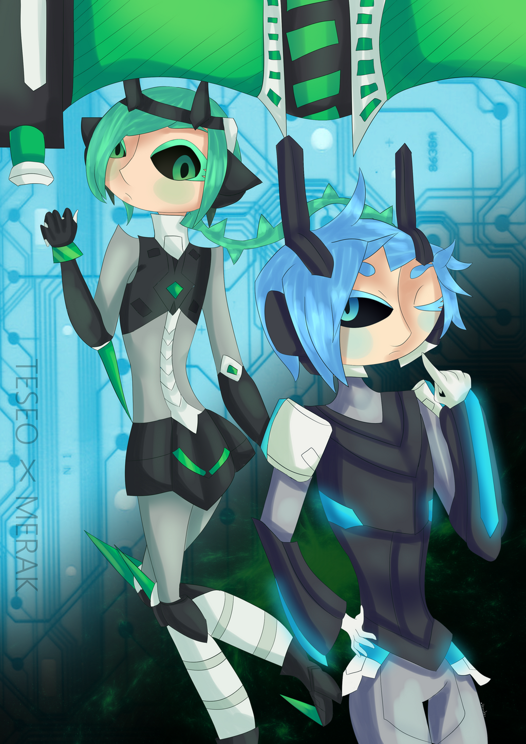 Together, In Our Cibernetic-Spacial-World    Terak by The-7th-Demon