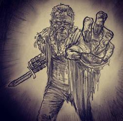 Merle Zombie ~ Walking Dead by mattjacobs
