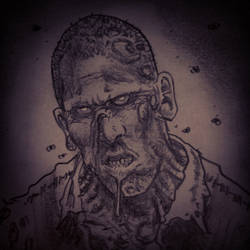 The Walking Dead ~ Undead Shane sketch by mattjacobs