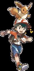 Pokemon Let's GO Eevee Male Trainer by whosaskin