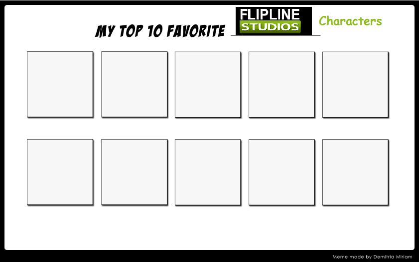 Top 10 Favorite Flipline Characters Meme by hershey990