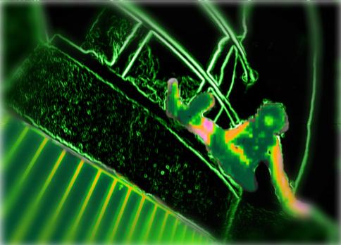 Green Illusion by P-J-TRASH