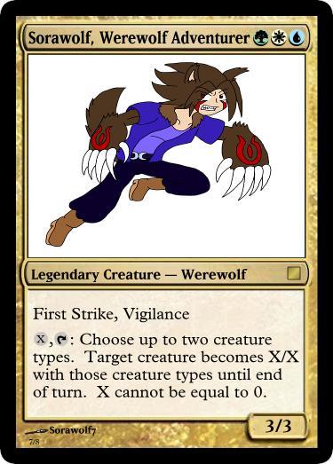 Sorawolf, Werewolf Adventurer by panahinuva