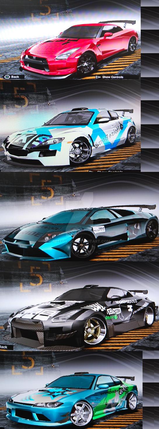 Prostreet Cars First 5 By Speedy 08 On Deviantart