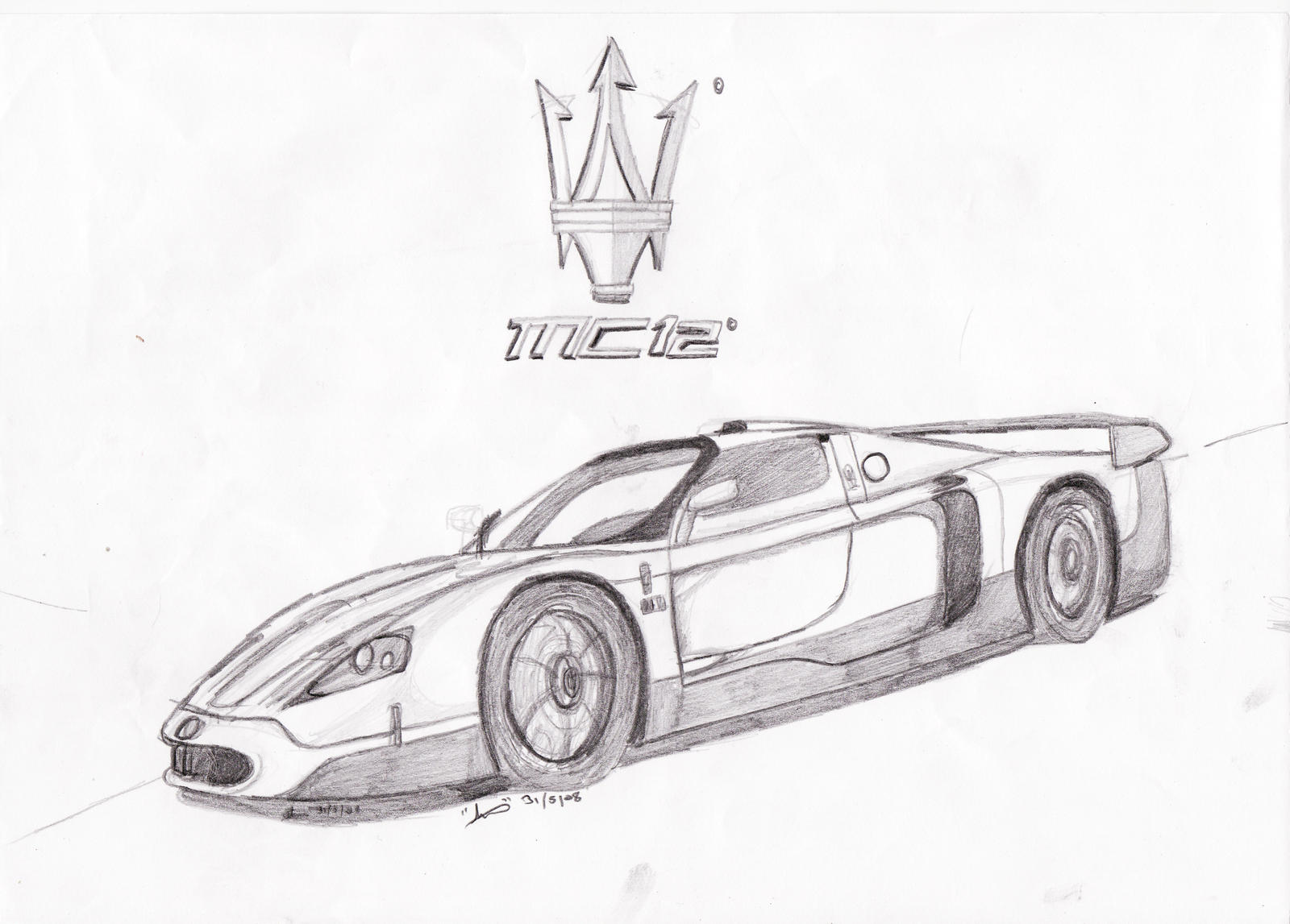 Draw cars maserati pictures for Maserati coloring pages