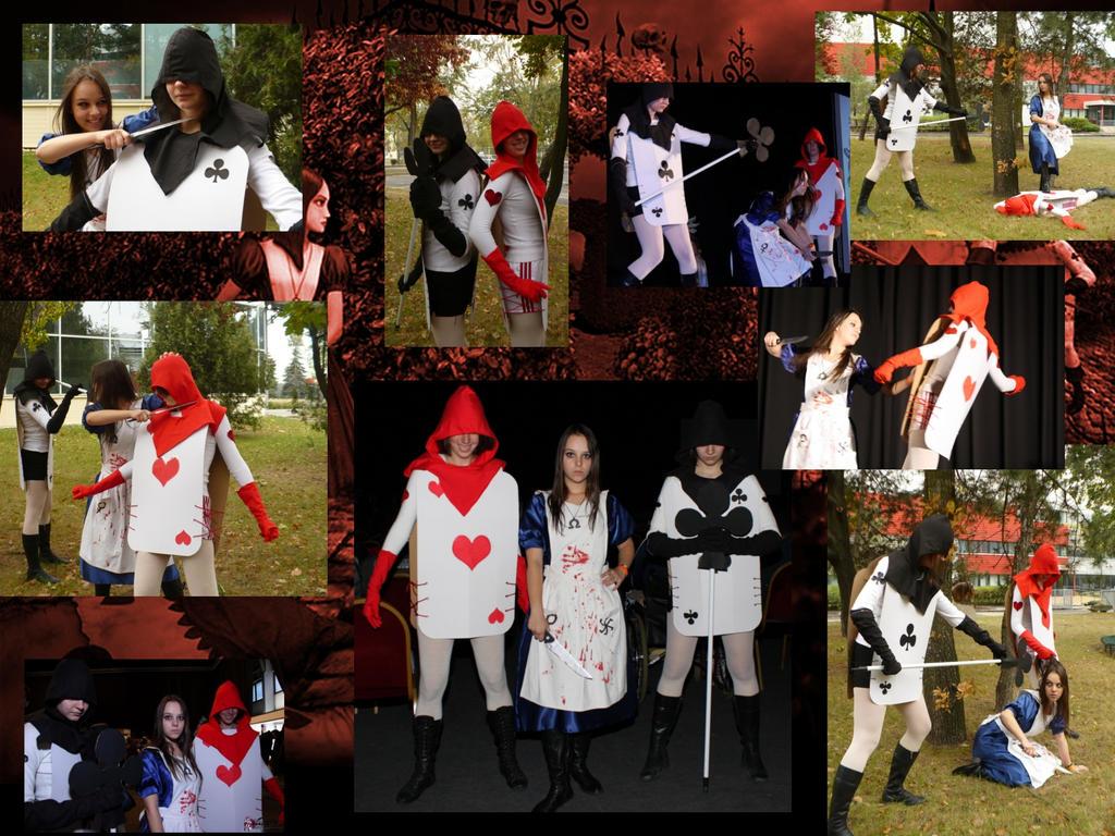 Alice In Wonderland Characters Disney Card Guards Alice and card    Alice In Wonderland Characters Disney Card Guards