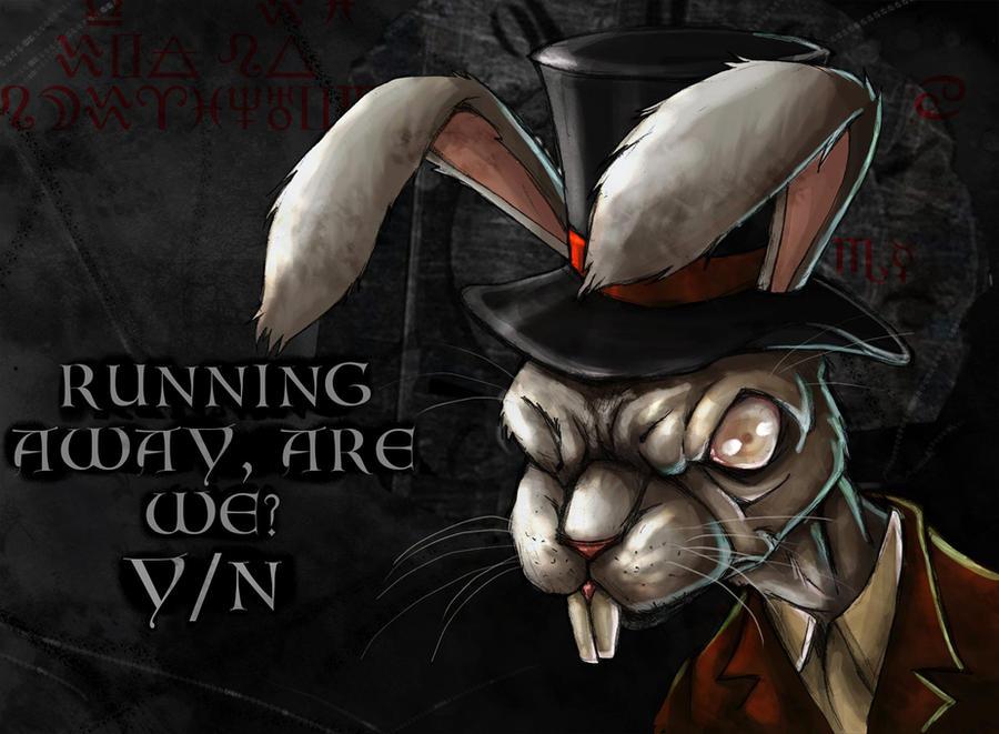 White Rabbit Portrait Print Digital Art Surreal Home Decor Bunny ...