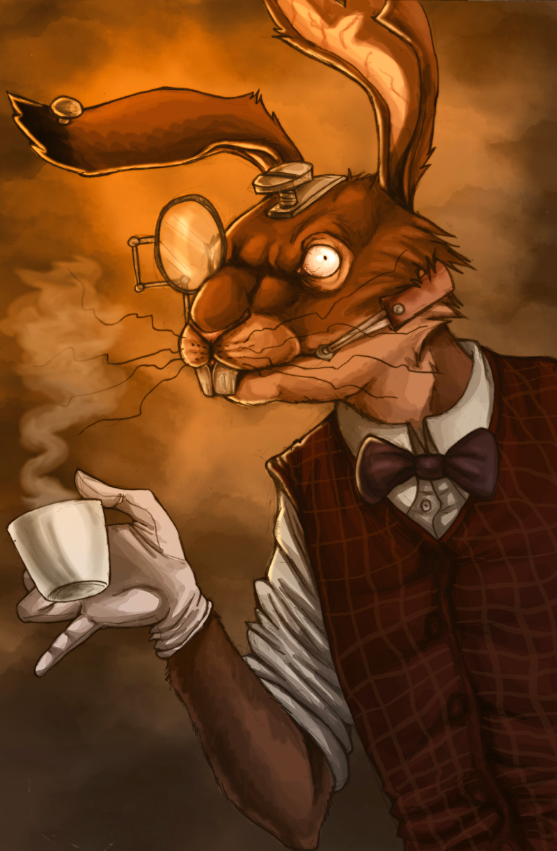 Amr march hare by ladyfiszi on deviantart for March hare wallpaper